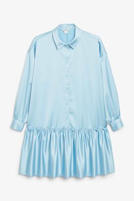 Monki Satin shirt dress
