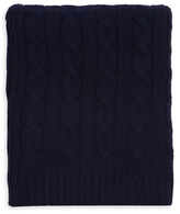 A & R Cashmere Cashmere Blend Cable Knit Throw