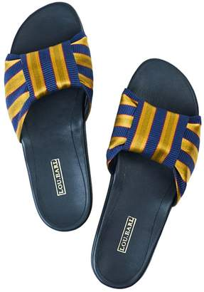 Lou.Earl King James Satin & Leather Striped Sandals
