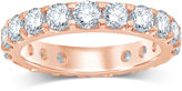 MODERN BRIDE 3 CT. T.W. Diamond 14K Rose Gold Eternity Band