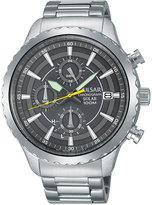 Pulsar Men's Solar Chronograph Stainless Steel Bracelet Watch 44mm PZ6011