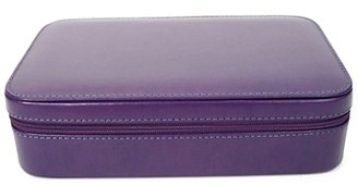 Royce New York Leather Zippered Travel Jewelry Case