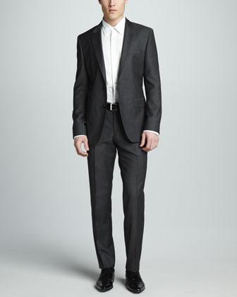 HUGO BOSS Travel Line Textured Suit