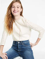 Lucky Brand Embroidred Neck Top