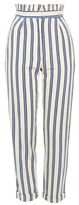 Topshop Stripe Ruffle Peg Trousers
