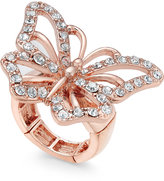 Thalia Sodi Rose Gold-Tone Pavé Butterfly Stretch Ring, Only at Macy's