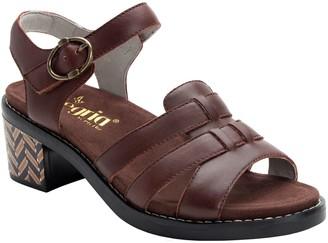 Alegria Adjustable Leather Block Heel Sandals -Tasia