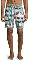 Robert Graham Super Volcano Board Shorts, Multicolor