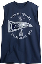 Disney Disneyland Pennant Sleeveless Tee for Adults - Navy