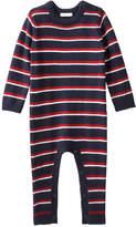 Joe Fresh Baby Boys' Stripe Sweater Romper, JF Midnight Blue (Size 12-18)