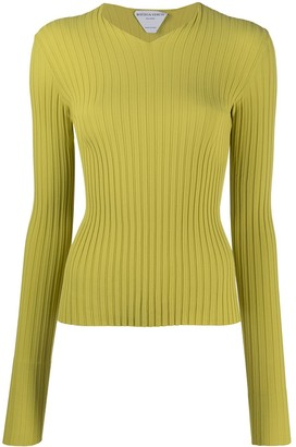 Bottega Veneta ribbed V-neck jumper
