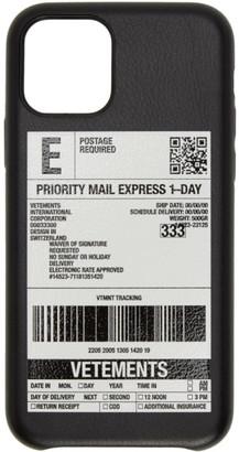 Vetements Black Delivery Sticker iPhone 11 Pro Case