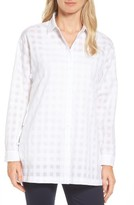 Nordstrom Women's Sheer Gingham Tunic Shirt