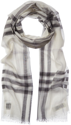 Burberry Check Wool & Silk-Blend Scarf