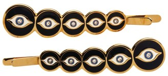Halcyon Days Evil Eye Hair Clips (Set Of 2)
