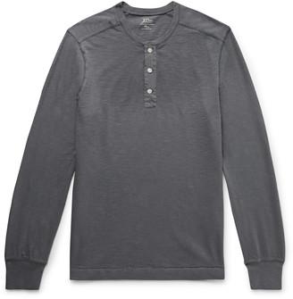 J.Crew Garment-Dyed Slub Cotton-Jersey Henley T-Shirt