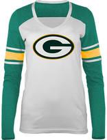 New Era Women's Green Bay Packers NFL Long-Sleeve Tri-Blend V-Neck