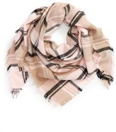 David & Young Women's Plaid Triangle Scarf
