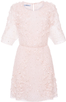 Blumarine Rose Embroidered A-line Dress