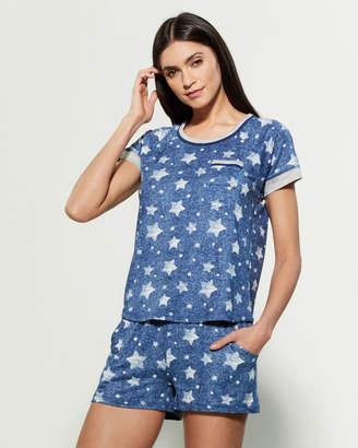 Pillow Talk Two-Piece Live To Sleep Top & Shorts Pajama Set