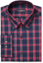Club Room Men's Estate Classic-Fit Wrinkle Resistant Navy MacBeth Dress Shirt, Only at Macy's