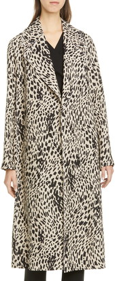 Lafayette 148 New York Zelida Spot Print Trench Coat