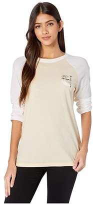 Hurley Paia Circle 3/4 Sleeve Raglan (Thunder Grey) Women's Clothing
