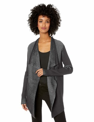 Chaus Women's Long Sleeve Ribbed Cardigan