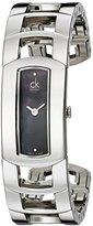 Calvin Klein Women's K3Y2S11S Analog Swiss Quartz Silver Stainless Steel Cuff Watch