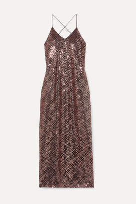 Mason by Michelle Mason Open-back Sequined Tulle Gown - Blush