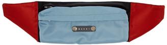 Marni Blue and Black Colorblock Belt Bag