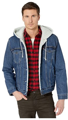 Levi's(r) Mens Hooded Sherpa Trucker (Fly Over) Men's Clothing