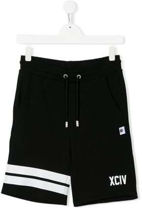 Gcds Kids TEEN logo print shorts