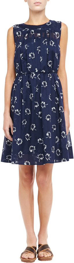 Marc Jacobs Printed Pleated Slip Dress