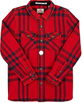 Scotch Shrunk Checked Cotton Flannel Overshirt-RED