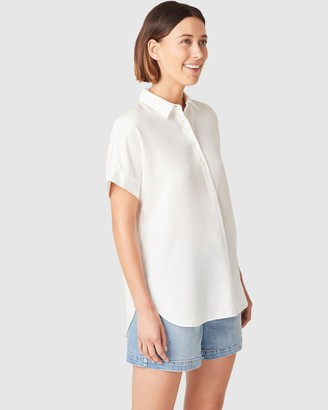 French Connection Oversized Short Sleeve Shirt