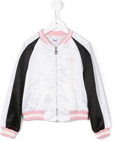 MSGM logo print jacket - kids - Polyester - 6 yrs