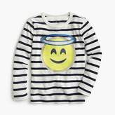 J.Crew Girls' angel emoji long-sleeve T-shirt