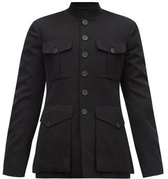 Balenciaga Single-breasted Patch-pocket Wool-twill Jacket - Black