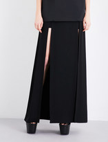 Chalayan High-rise crepe skirt
