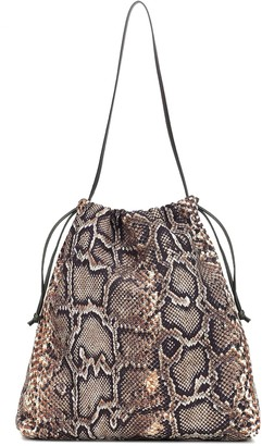 Victoria Beckham Snake-effect drawstring bucket bag