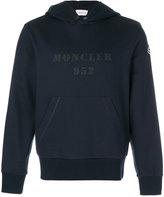 Moncler logo print hoodie - men - Cotton - S