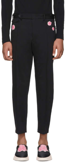 Y-3 Black James Harden Cropped Slim Trousers