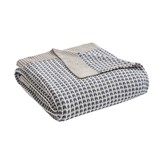 Madison Home USA Reed Cotton Knit Throw Blanket