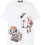 Christopher Kane Printed Cotton-jersey T-shirt - White