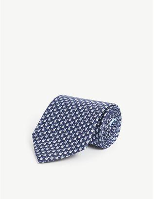 Salvatore Ferragamo Eco-world graphic-print silk tie