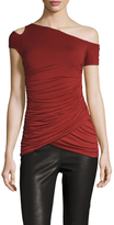 Bailey 44 Ruched Front Cut Out Top