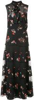 RED Valentino sheer floral dress - women - Silk/Spandex/Elastane - 40