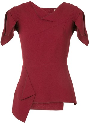Roland Mouret Deconstructed Short-Sleeve Top