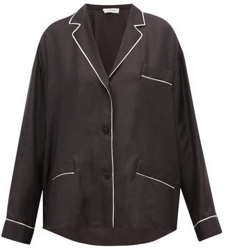 Valentino Silk Pyjama Blouse - Womens - Black White